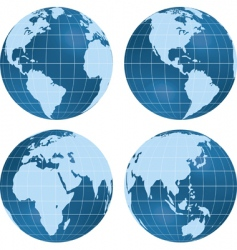 Globe views vector