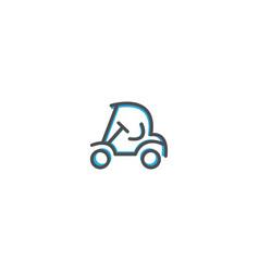 golf cart icon design transportation icon design vector image