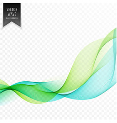 Green and blue elegant wave background vector