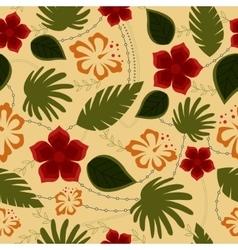 Hawaiian seamless pattern retro vector image