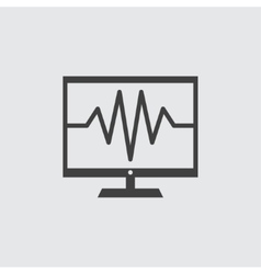 Healthcare pc icon vector image