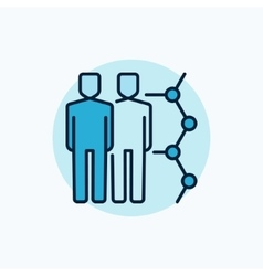 Human cloning blue icon vector