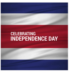 Independence day of costa rica vector
