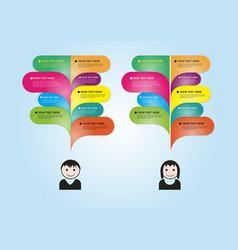 infographic speech vector image