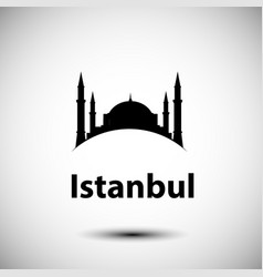 istanbul turkey detailed silhouette vector image