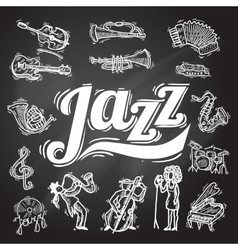 Jazz Chalkboard Set vector