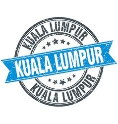Kuala Lumpur blue round grunge vintage ribbon vector
