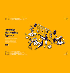 Landing page for internet marketing agency vector