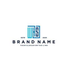 Letter whs square logo design vector