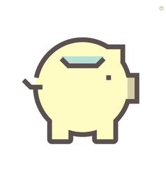 Money saving icon design for financial graphic vector