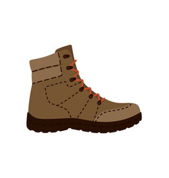 Mountain shoes boot isolated icon vector