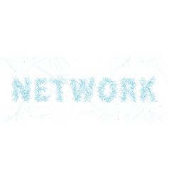 network word lettering typography with thin line vector image
