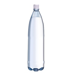 plastic water bottle vector image