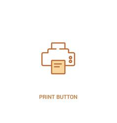 Print button concept 2 colored icon simple line vector