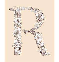 R School alphabet letter vector
