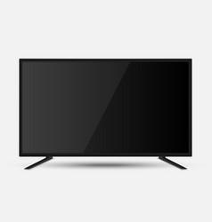 realistic tv screen vector image