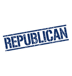 Republican stamp vector