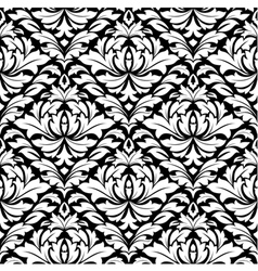 retro damask seamless pattern vector image