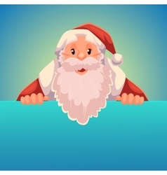 Santa Claus holding a sign with place for text vector