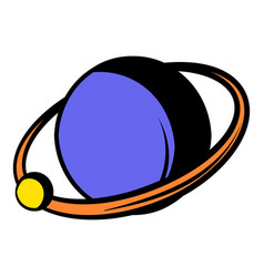 saturn icon icon cartoon vector image