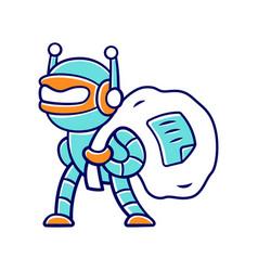 Scraper bot color icon malicious bad robot vector