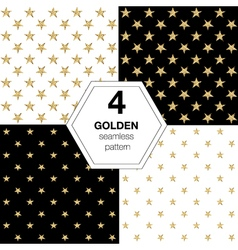 Set of golden stars vector