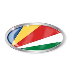 Seychelles flag oval button vector