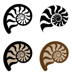 shell silhouette vector image