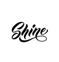 Shine handwritten word vector