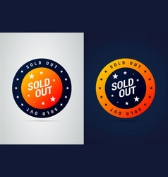 sold out emblem for product sales and other vector image