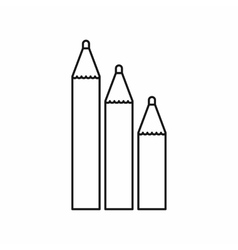 Three pencils icon outline style vector image