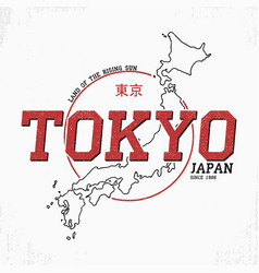 Tokyo typography graphics for t shirt with japan vector