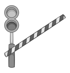 Train barrier icon black monochrome style vector