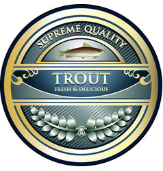 Trout gold icon vector