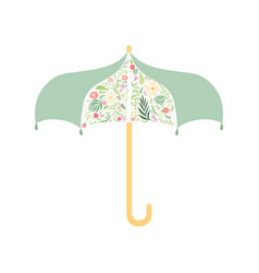 umbrella decorated with floral seamless pattern vector image