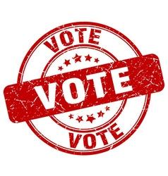 vote stamp vector image