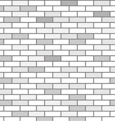 wall of white bricks and gray vector image