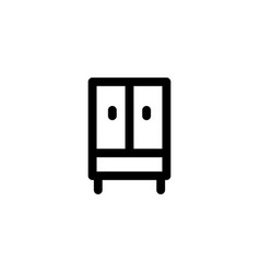 wardrobe cabinet drawer dricon vector image