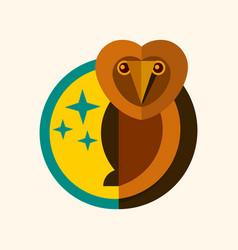 wild owl logo creative design vector image