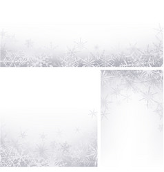 winter backgrounds set with snowflakes vector image