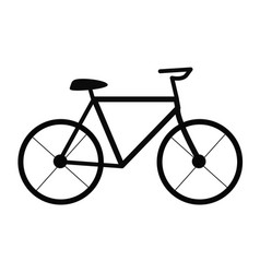 bicycle on white background bicycle sign trendy vector image vector image