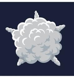 Cartoon smoke Explosion Frame vector image vector image