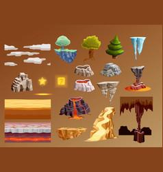 computer games cartoon elements 3d set vector image