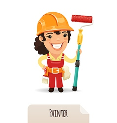female painter vector image