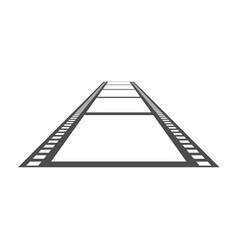 film icon solid pictogram vector image