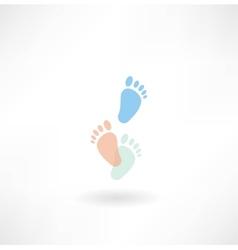 human footprints icon vector image