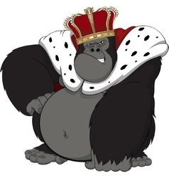 Monkey in the crown vector