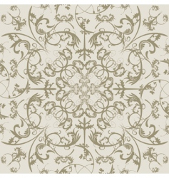 swirls seamless pattern vector image vector image