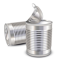 tin cans vector image vector image