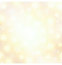 background with golden falling snow vector image